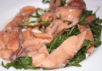 Recette de Carpaccio de Saumon et sa petite salade