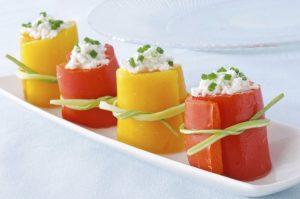 Recette de Roulés apéritifs au poivron grillé