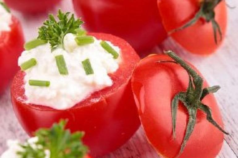 Mini tomates farcies au chèvre