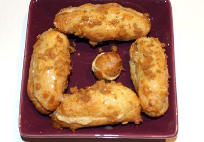 Recette d'Eclairs au foie gras, miel et speculoos