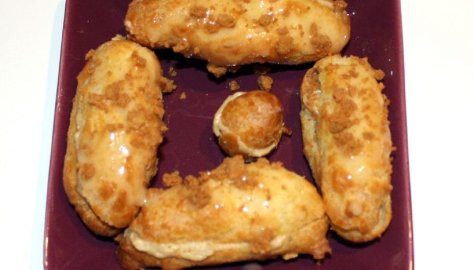 Eclairs au foie gras, miel et speculoos