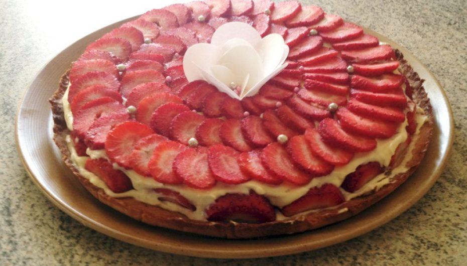 Tarte aux fraises crémeuse façon fraisier