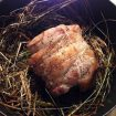 Recette de Selle d'agneau cuite au foin
