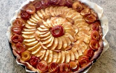 Tarte aux pommes «Bouquet de roses»