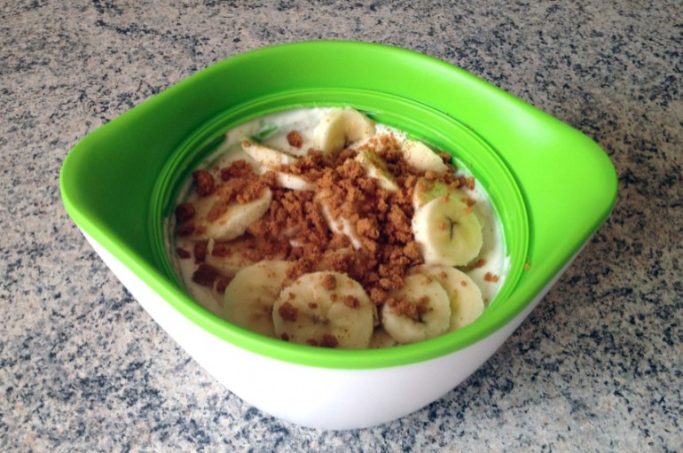 Bento fromage blanc, bananes, speculoos