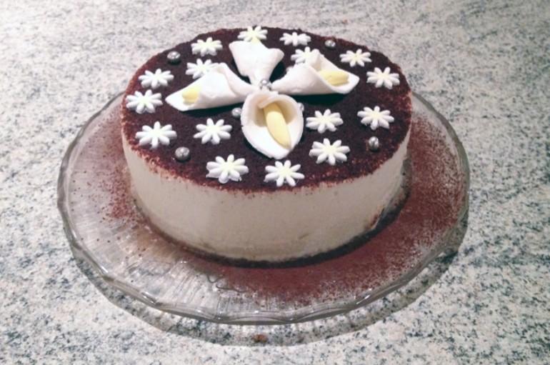 Gâteau fondant chocolat et mousse de poires
