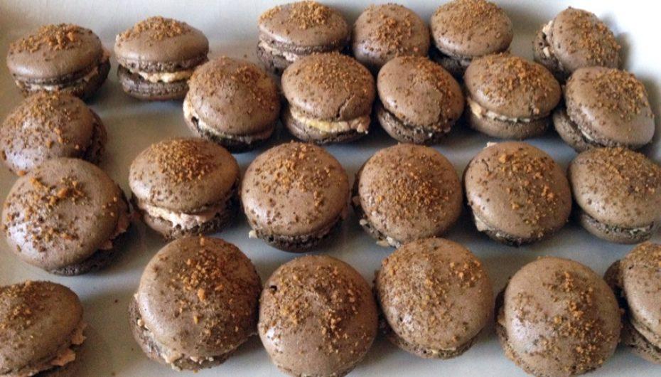 Macarons au Foie Gras et miettes de pain d'épices
