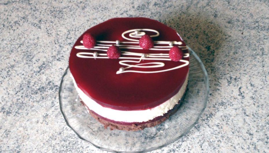 Gâteau framboises et 2 chocolats