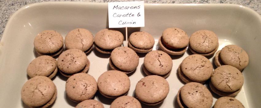 Recette de Macarons apéritifs carottes & cumin