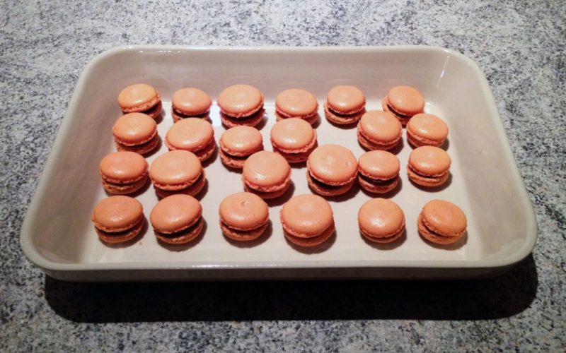 Macarons chocolat et clémentine