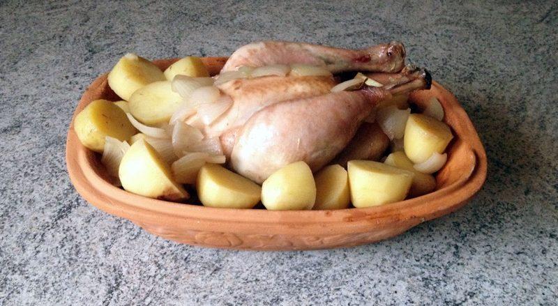 Poulet Römertopf au cidre