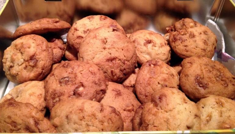 Cookies aux fruits secs et caramel au beurre salé