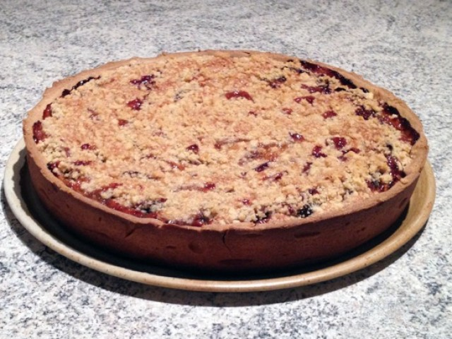 recette de tarte aux quetsches et aux amandes fa on crumble cuisine blog. Black Bedroom Furniture Sets. Home Design Ideas