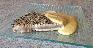 Recette de Steak de thon au sésame, sauce soja et wasabi