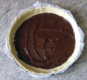 Tarte aux poires, chocolat et frangipane
