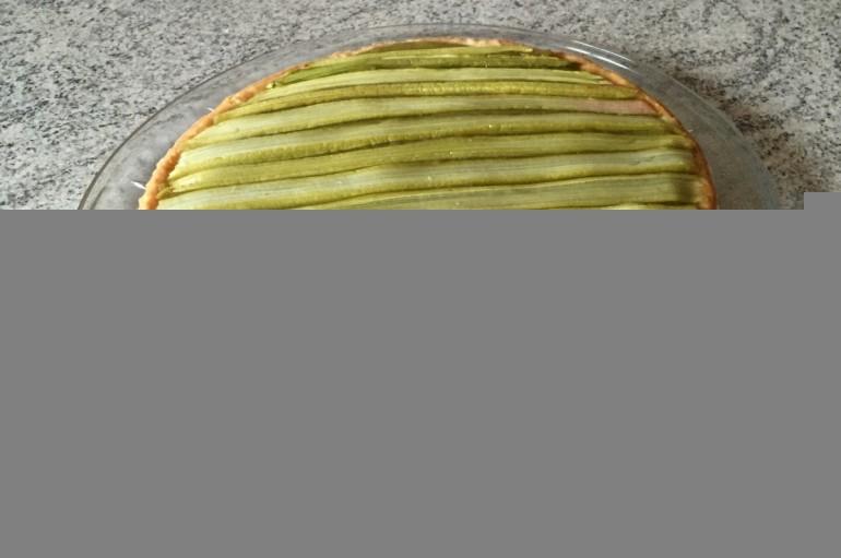 Tarte Rhubarbe et crème d'amandes