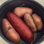 aucisse morteau pommes de terre prepa 1 150x150 - Poêlée de saucisse de Morteau et pommes de terres