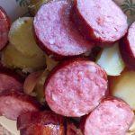 aucisse morteau pommes de terre prepa 4 150x150 - Poêlée de saucisse de Morteau et pommes de terres