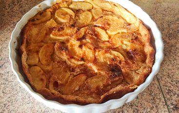 Clafoutis aux pommes et au beurre salé