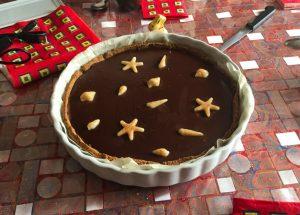 tarte chocolat caramel 2 300x215 - Tarte au chocolat et caramel au beurre salé