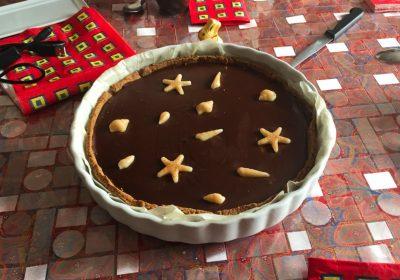 tarte chocolat caramel 2 400x280 - Tarte au chocolat et caramel au beurre salé