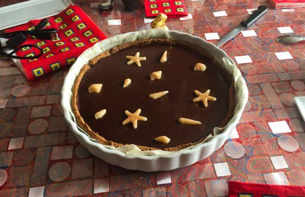 tarte chocolat caramel 2 620x401 - Dossier : Sélection de recettes pour Pâques