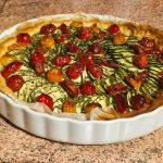 tarte chevre courgettes tomates lardons 1 150x150 - Tarte aux courgettes, tomates, lardons et mousse de chèvre