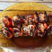 brochettes poulet mariné 1 105x105 - Salade de riz au thon, maïs et poivron
