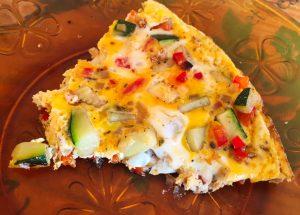 omelette courgette poivron 1 300x215 - Omelette courgette, oignon, poivron