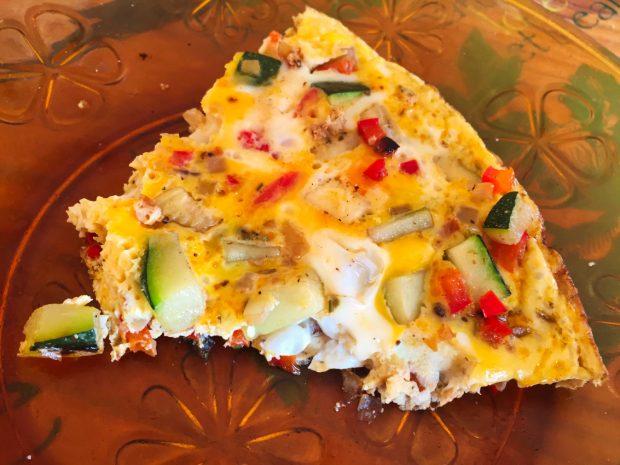 omelette courgette poivron 1 620x465 - Dossier : La courgette dans tous ses états