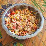 salade riz thon mais poivron 1 150x150 - Salade de riz au thon, maïs et poivron
