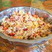 salade riz thon mais poivron 2 105x105 - Brochettes de poulet mariné