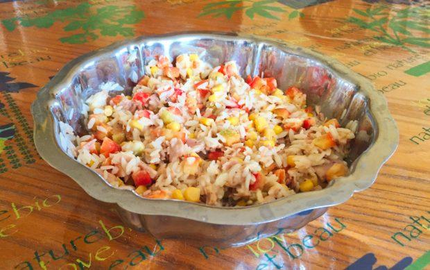 salade riz thon mais poivron 2 620x389 - Dossier : Barbecue & Salades !