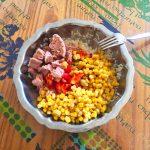 salade riz thon mais poivron prepa 3 150x150 - Salade de riz au thon, maïs et poivron