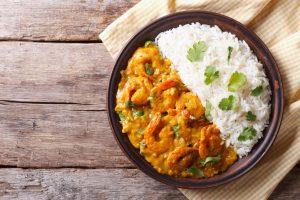 curry crevettes 300x200 - Curry de crevettes (recette Companion)