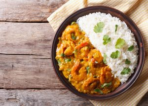 curry crevettes 300x215 - Curry de crevettes (recette Companion)