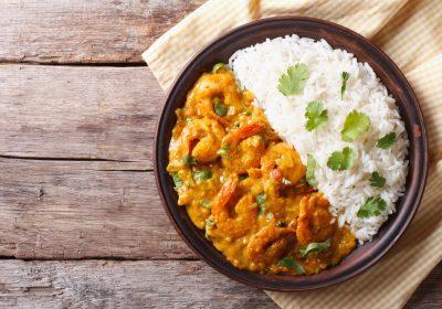 curry crevettes 400x280 - Curry de crevettes (recette Companion)
