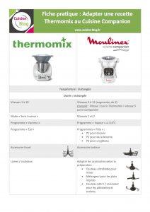 Fiche adaptation Thermomix Companion 212x300 - Adapter les recettes du Thermomix au Companion