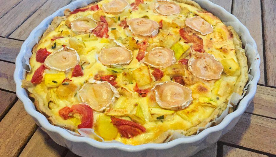 Tarte Courgettes, tomates, chèvre