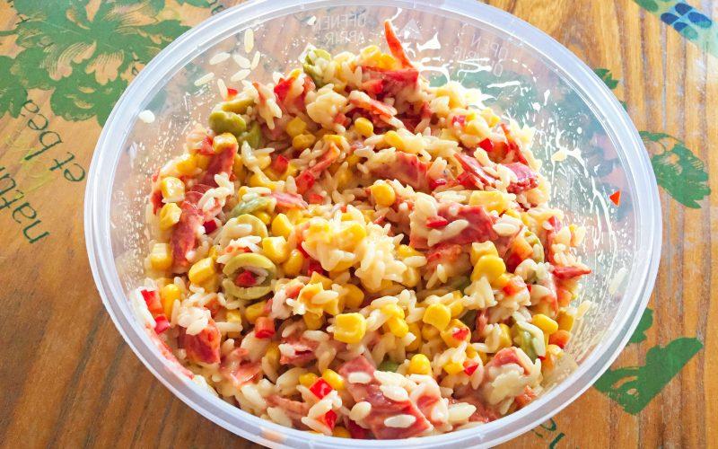 Salade de riz au chorizo