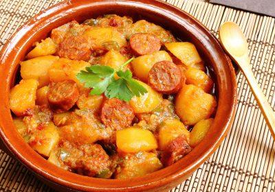 pommes de terre au chorizo 400x280 - Pommes de terre au chorizo (recette Companion)