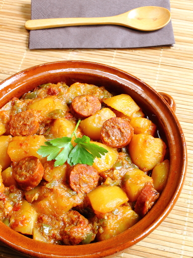 pommes de terre au chorizo3 - Pommes de terre au chorizo (recette Companion)
