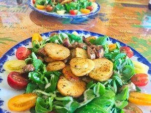salade aiguillettes canard 1 300x225 - salade-aiguillettes-canard-1