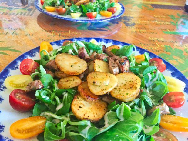 salade aiguillettes canard 1 620x465 - Dossier : Grandes salades version plat unique !