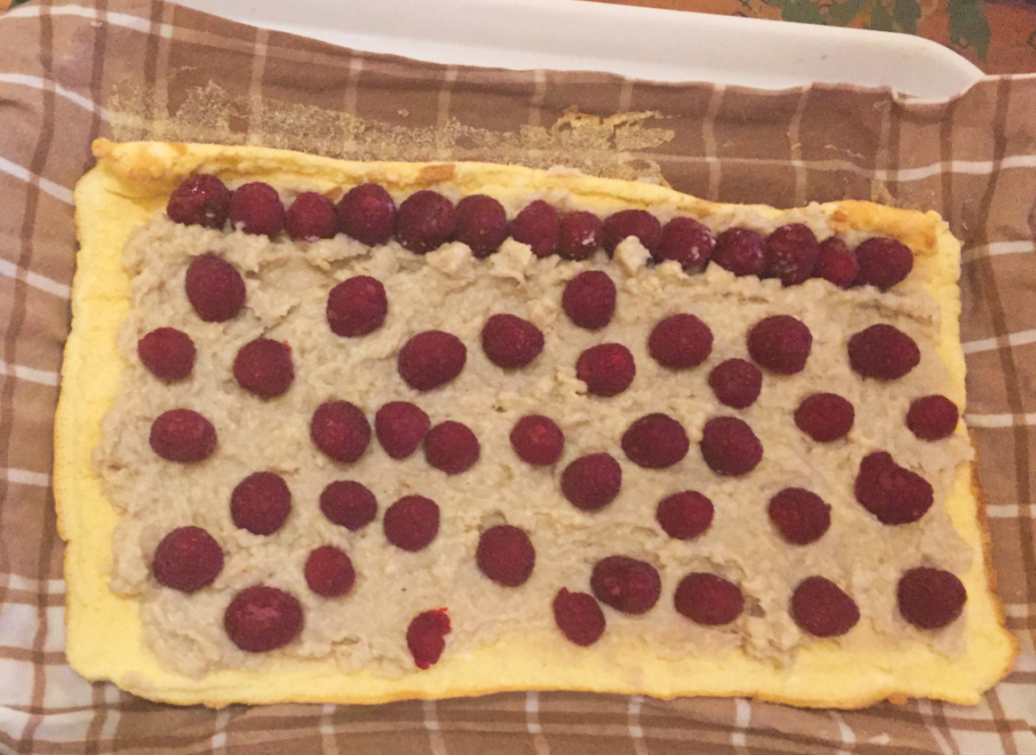 IMG 2141 - Bûche pâtissière aux framboises (Recette Companion)