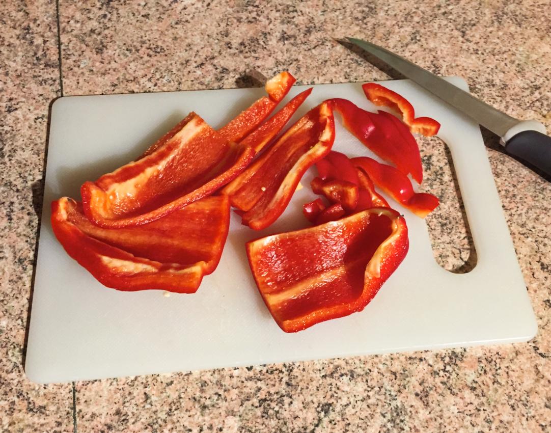 IMG 2088 - Clafoutis au chèvre, poivrons, jambon, tomates