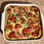IMG 2095 150x150 - Clafoutis au chèvre, poivrons, jambon, tomates