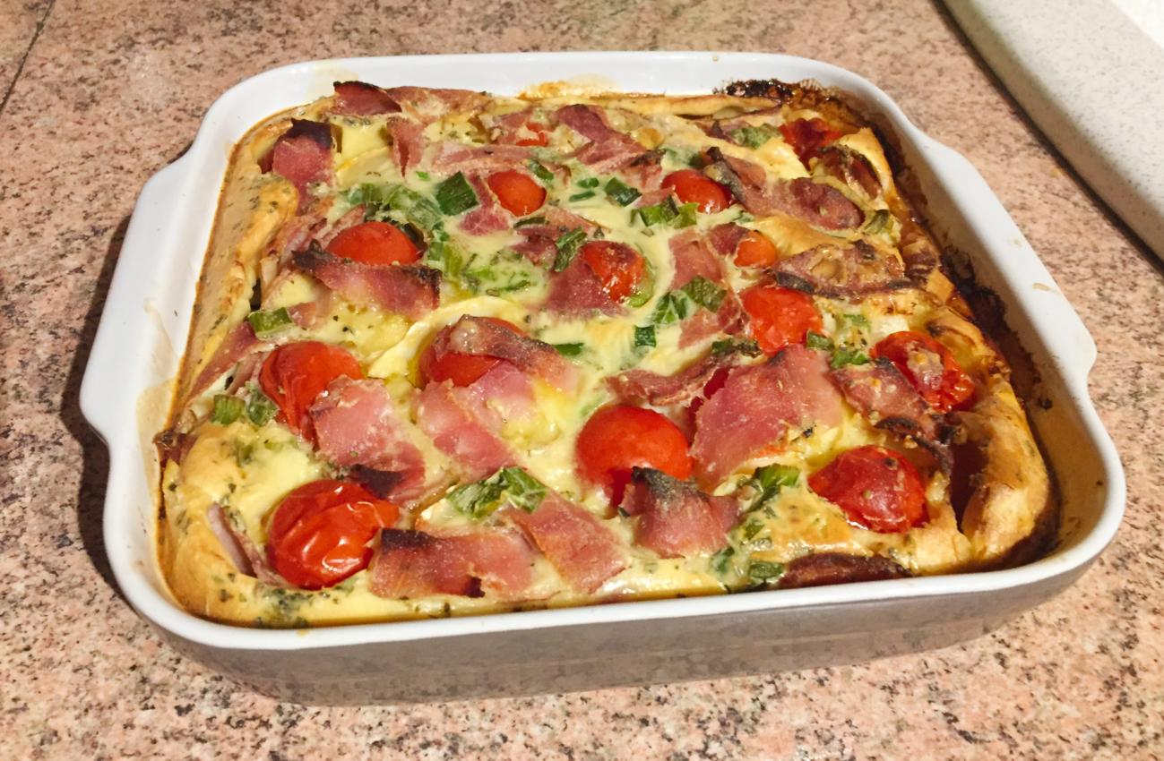 IMG 2096 - Clafoutis au chèvre, poivrons, jambon, tomates