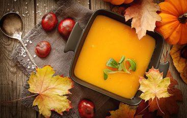 Soupe de potiron, marrons, oignons (Recette Companion)