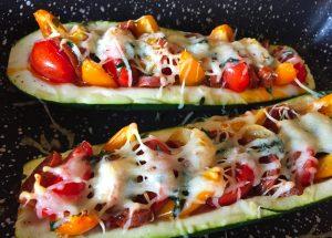 IMG 3853 300x215 - Courgettes au chorizo façon pizza